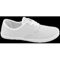 Дамски маратонки - висококачествен текстилен материал - бели - EO-10287