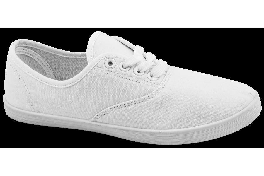 Дамски маратонки - висококачествен текстилен материал - бели - EO-10290