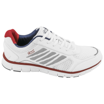 Мъжки маратонки - висококачествен текстилен материал - бели - EO-10211