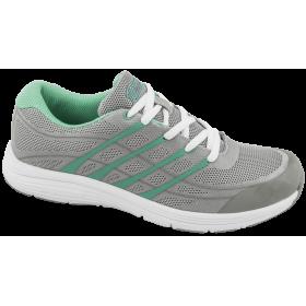 Дамски маратонки - висококачествен текстилен материал - сиви - EO-10334