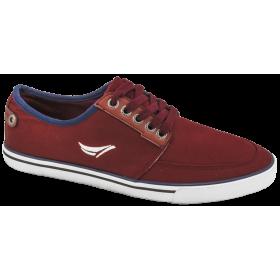 Спортни мъжки обувки - висококачествен текстилен материал - бордо - EO-10236