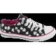 Дамски кецове - висококачествен текстилен материал - черни - EO-10324