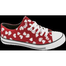 Дамски кецове - висококачествен текстилен материал - червени - EO-10326