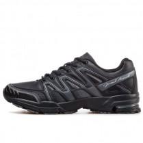 Мъжки маратонки - висококачествена еко-кожа - черни - EO-11465