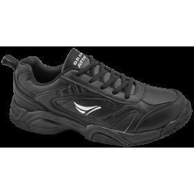 Мъжки маратонки - висококачествена еко-кожа - черни - EO-10231