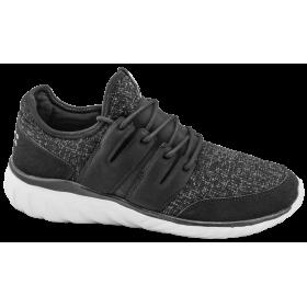 Мъжки маратонки - висококачествен текстилен материал - черни - EO-10218