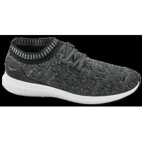 Мъжки маратонки - висококачествен текстилен материал - черни - EO-10256