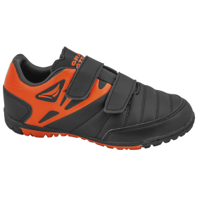 Детски маратонки - висококачествена еко-кожа - черни - EO-10337
