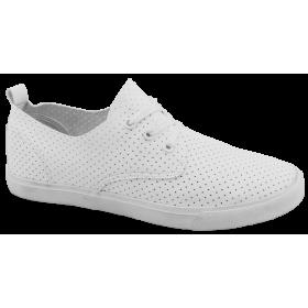 Спортни мъжки обувки - висококачествена еко-кожа - бели - EO-10226