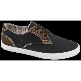 Спортни мъжки обувки - висококачествен текстилен материал - черни - EO-10215