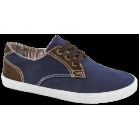 Спортни мъжки обувки - висококачествен текстилен материал - сини - EO-10216
