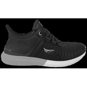 Мъжки маратонки - висококачествен текстилен материал - черни - EO-10239