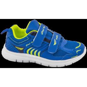 Детски маратонки - еко-кожа с текстил - сини - EO-10347