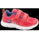 Детски маратонки - еко-кожа с текстил - розови - EO-10345
