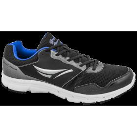 Мъжки маратонки - висококачествен текстилен материал - черни - EO-10258