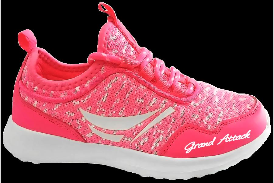Детски маратонки - висококачествен текстилен материал - розови - EO-10342