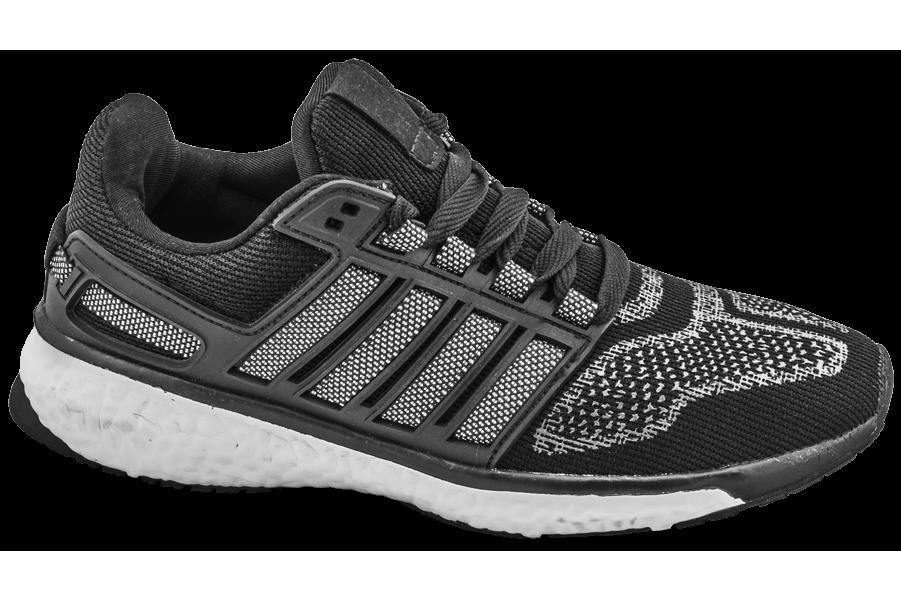 Мъжки маратонки - висококачествен текстилен материал - черни - EO-10262