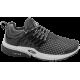 Дамски маратонки - висококачествен текстилен материал - черни - EO-10308