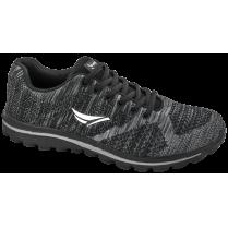 Мъжки маратонки - висококачествен текстилен материал - черни - EO-10250