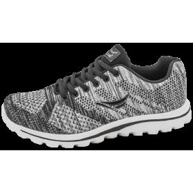 Дамски маратонки - висококачествен текстилен материал - сиви - EO-10301