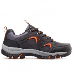 Мъжки маратонки - висококачествена еко-кожа - черни - EO-11447