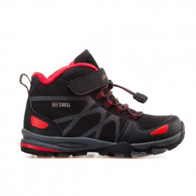 Детски обувки - висококачествена еко-кожа - черни - EO-11448