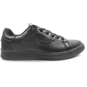 Спортни мъжки обувки - висококачествена еко-кожа - черни - EO-11470