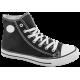Дамски маратонки - висококачествен текстилен материал - черни - EO-10296
