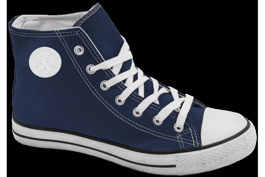 Дамски маратонки - висококачествен текстилен материал - сини - EO-10299