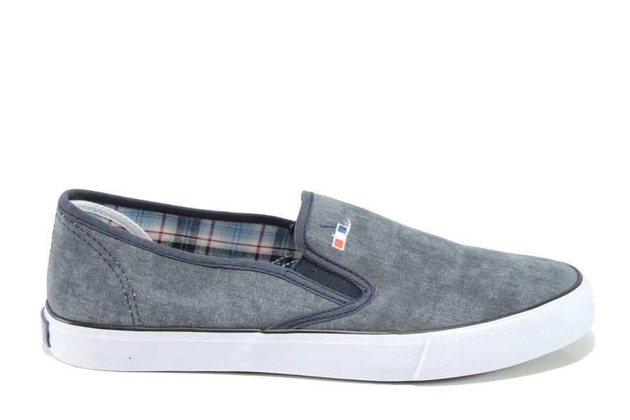 Спортни мъжки обувки - висококачествен текстилен материал - сиви - EO-10636