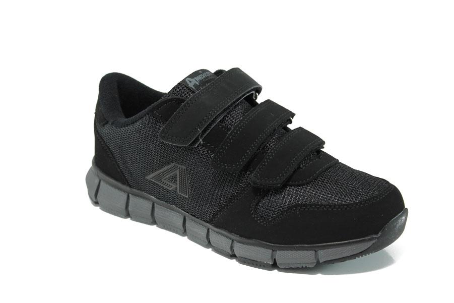 a748e28da14 Дамски маратонки - еко-кожа с текстил - черни - EO-10848