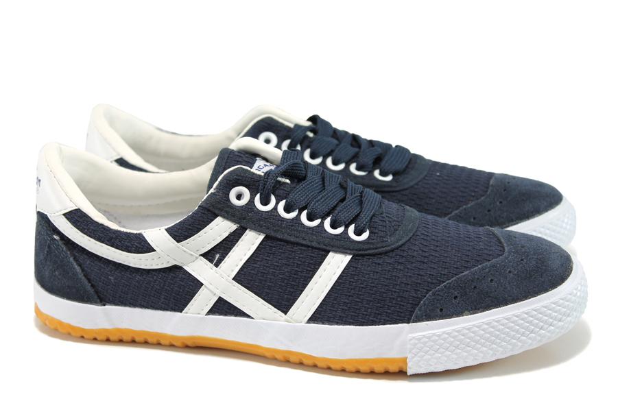 Мъжки маратонки - висококачествен текстилен материал - сини - EO-11156