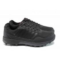 Мъжки маратонки - висококачествена еко-кожа - черни - EO-11408