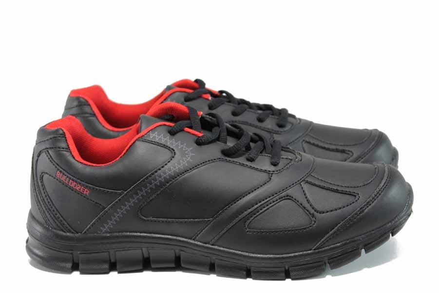 Дамски маратонки - висококачествена еко-кожа - черни - EO-11393