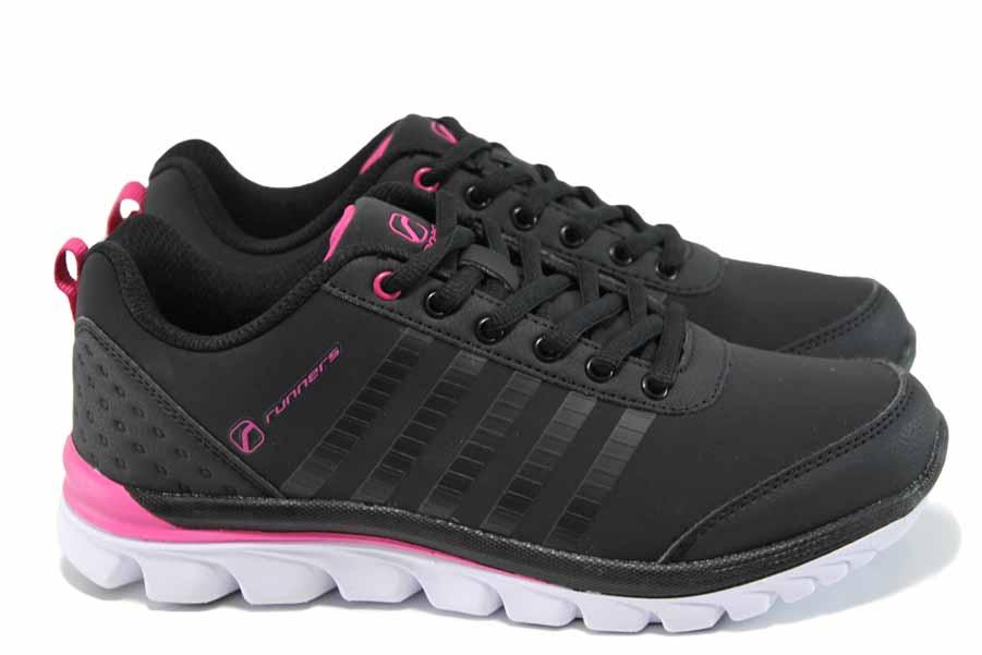 Дамски маратонки - висококачествена еко-кожа - розови - EO-11395