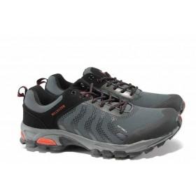 Мъжки маратонки - висококачествена еко-кожа - черни - EO-11782