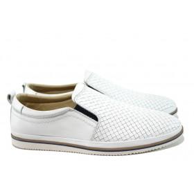 Мъжки обувки - естествена кожа - бели - EO-10468