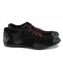Спортни мъжки обувки - естествен набук - черни - EO-10643