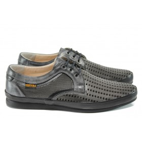 Мъжки обувки - естествена кожа - черни - EO-10791