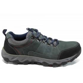 Мъжки обувки - естествена кожа - тъмносин - EO-11194