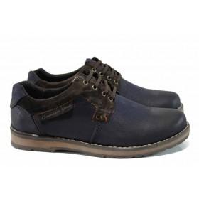 Мъжки обувки - естествена кожа - сини - EO-11313