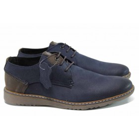 Мъжки обувки - естествена кожа - сини - EO-11312