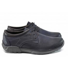 Мъжки обувки - естествена кожа - сини - EO-11308
