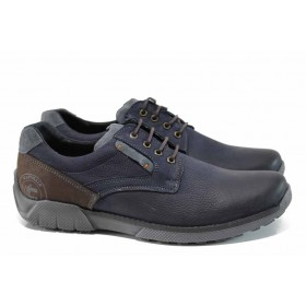 Мъжки обувки - естествена кожа - сини - EO-11314