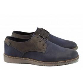Мъжки обувки - естествена кожа - сини - EO-11309