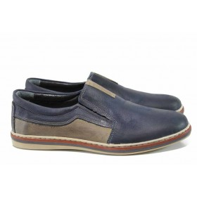 Мъжки обувки - естествена кожа - сини - EO-11528