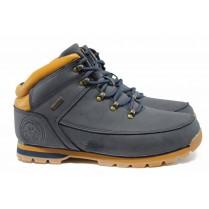 Мъжки боти - висококачествена еко-кожа - сини - EO-11660