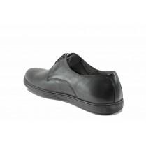 Мъжки обувки - естествена кожа - черни - EO-11690