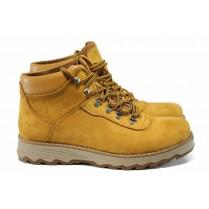 Мъжки боти - естествен набук - жълти - EO-11686