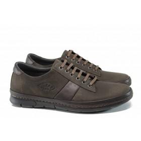 Мъжки обувки - естествена кожа - кафяви - EO-11742